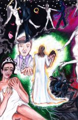 'The Nuptials': story concept poster: colored pencil & marker