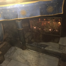 the area where Jesus was born has been built over with stone